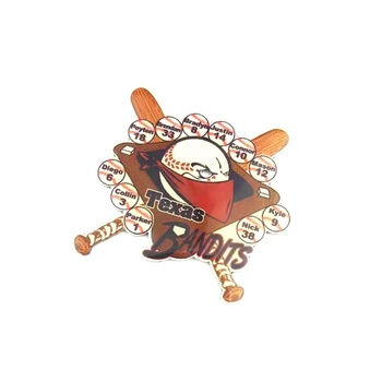 Hot sale custom plating metal bandits printing lapel pin