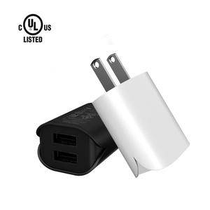 TKETAI Best Quality Dual USB Port 2.4A Portable Cell Phone Charger With U-L ROHS FCC certificates