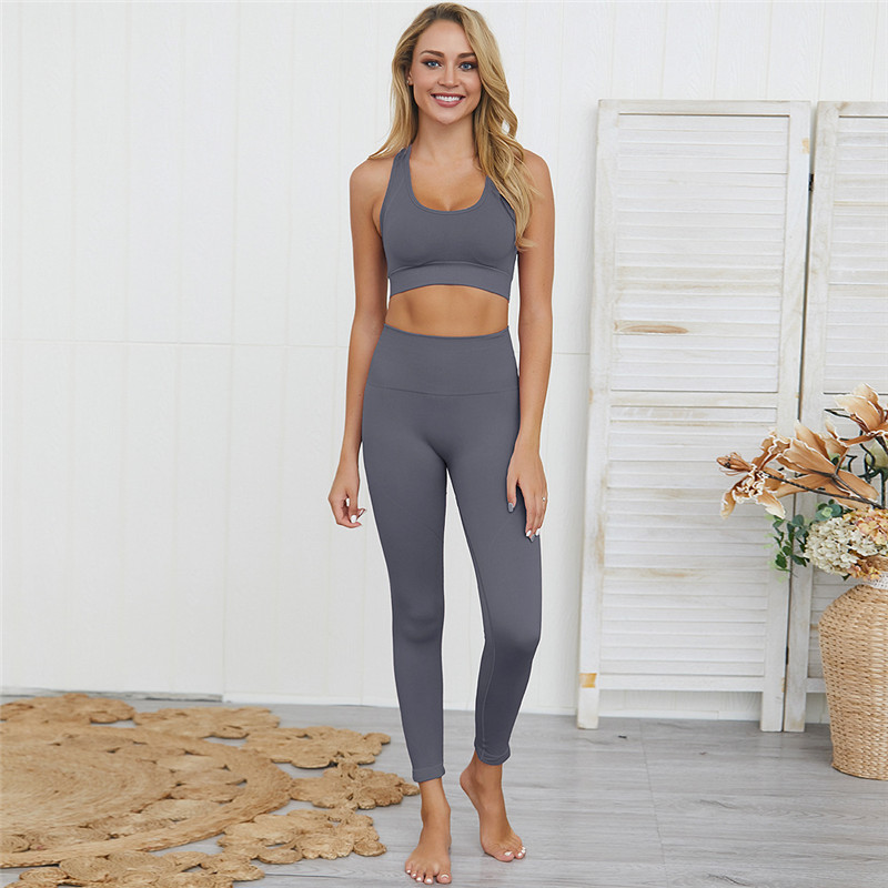 High <strong>Quality</strong> Yoga <strong>Sports</strong> Suit High Waist Leggings Fitness <strong>wear</strong> 2 Piece Women Yoga Set