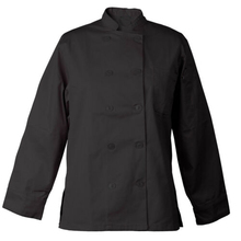 Vrouwen <span class=keywords><strong>Chef</strong></span> Jas Flatterende Knop <span class=keywords><strong>Chef</strong></span> Jacket Black Catering Uniform Restaurant