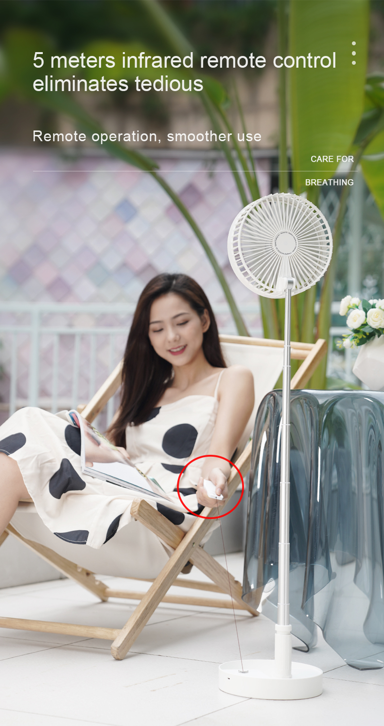 Reenwee Mini USB Fan Desk Portable Fan Ventilateur Rechargeable Table Foldable Charging Folding Ventilador Recargable Portatil