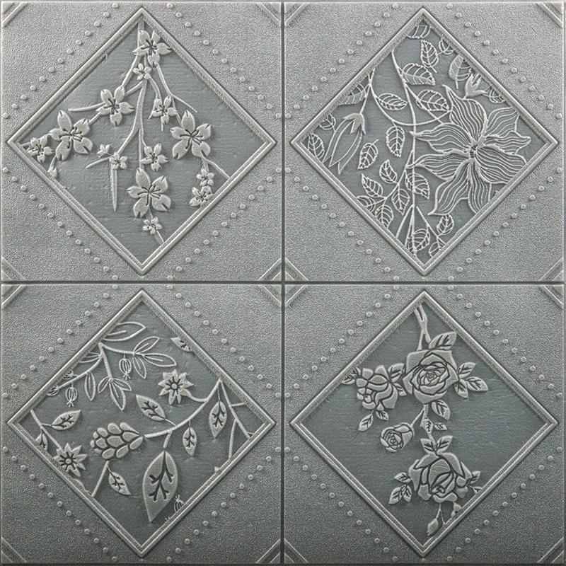Different Color Home Decoration Interior PE Foam Wall Sticker PVC 3D Wallpaper
