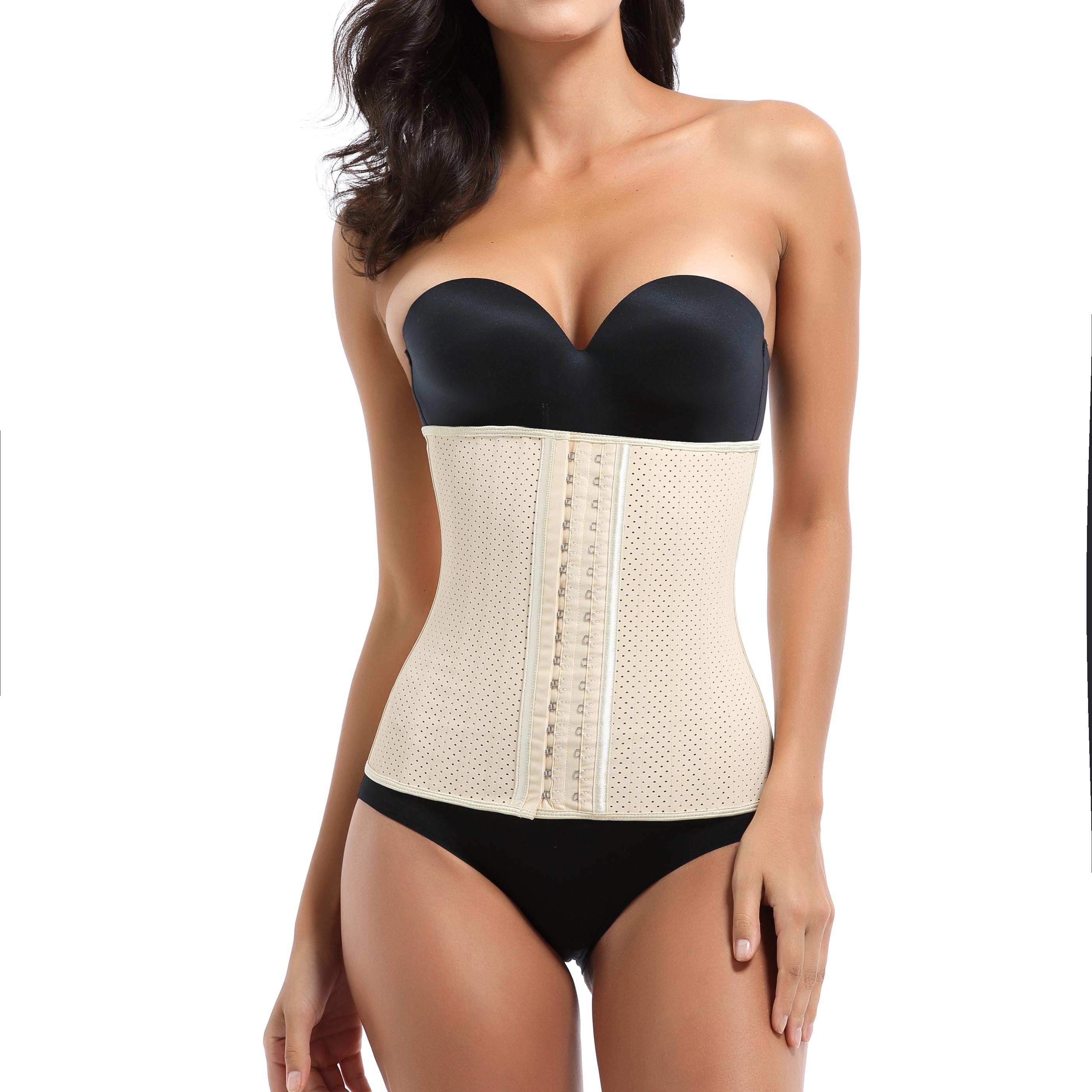 Mulheres látex cintura cincher firm controle 9 trainerr ossos de aço da cintura emagrecimento shaper da cintura látex respirável tummy controle shaper