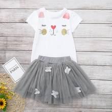 Детские комплекты на день рождения для малышей, 2020 год детская одежда платье с единорогом для маленьких девочек летние короткие платья прин...(Китай)