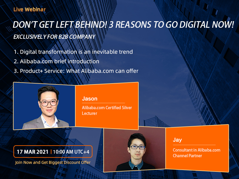 Don't get left behind! 3 Reasons to go digital now! (Exclusive for B2B companies)