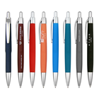 Low MOQ Hotel Use Branded Logo Click Action Plastic Ball Point Pen