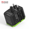 Return gifts USB travel adapter Type C quick charger AC adaptor world multi plugs socket