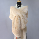 Fancy new design women faux fur shawls and scarves