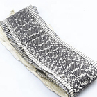 Elaphe Carinata Species natural pattern front-cut snake skin crust for leather