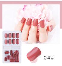 24 шт поддельные ногти съемные накладные ногти нажмите на ногти с желе гель Клей для нейл-арта клей на ногти(Китай)