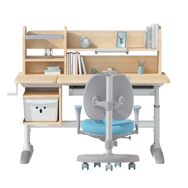 IGROW modern student writing desk wooden study of kid study table chair set children study desk chair