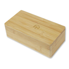 Handmade lacquer custom wooden bamboo box with magnet lid bamboo packaging box
