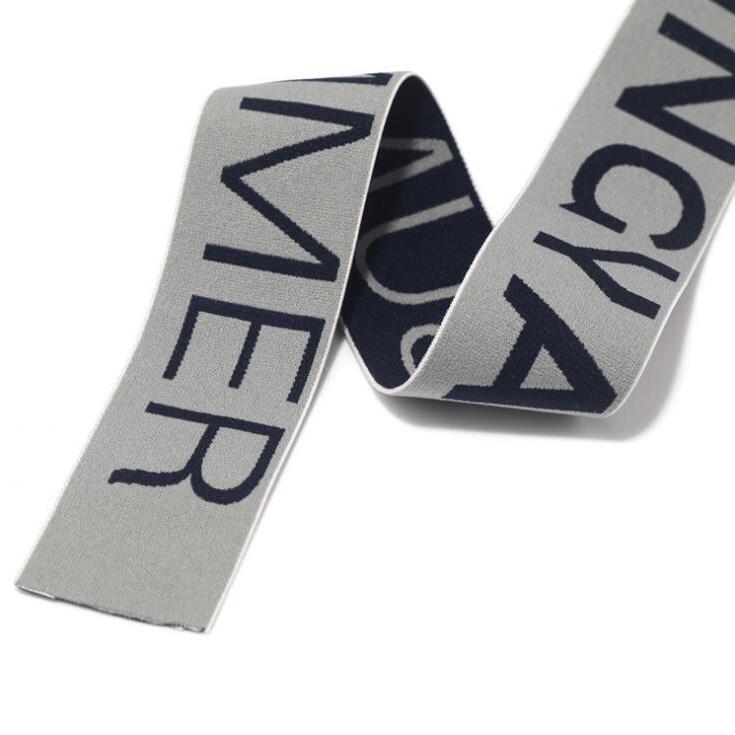 Logo personalizzato lettering tessuto elastico in vita