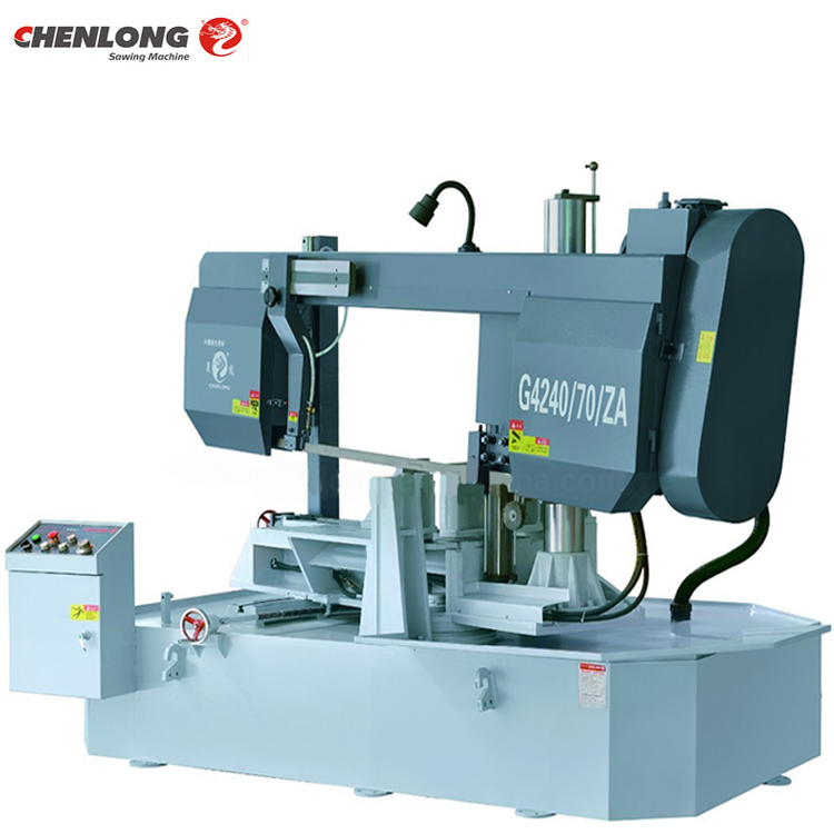 CHENLONG G4240/70/ZA Semi Profissional De Corte De Metal Band Saw Horizontal Band Saw