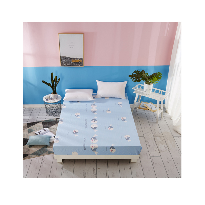 cotton bed cover sheet 100% print flat set egyptian fabric polyester plain hospital extra wide Four piece set