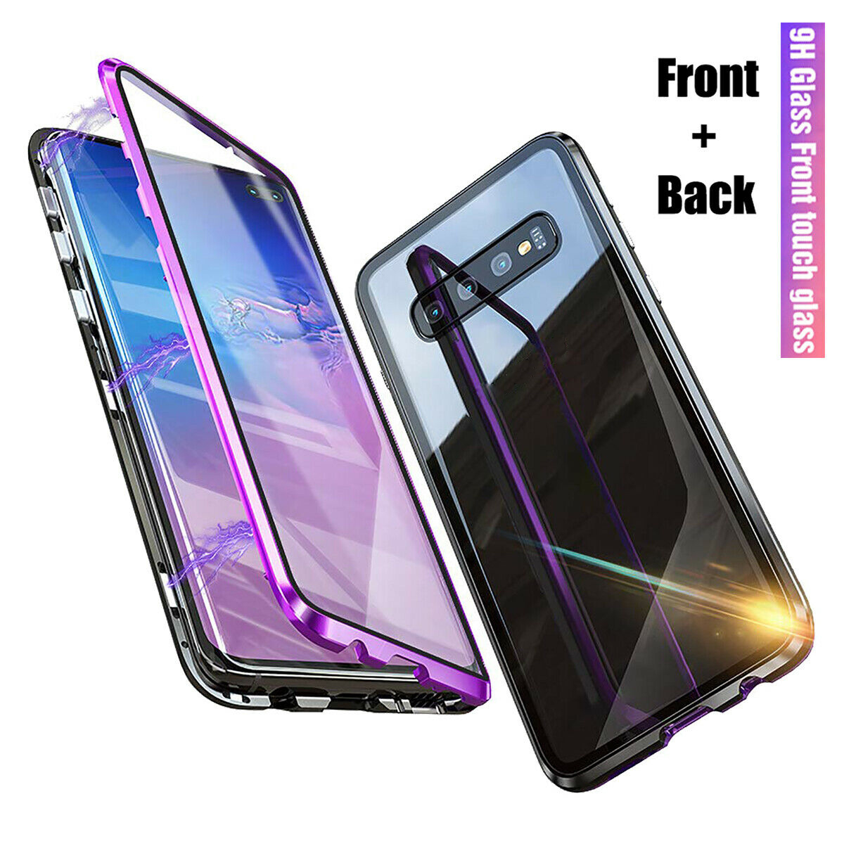 New Upgraded 360 Two Side Front Glass +back Glass Magnetic