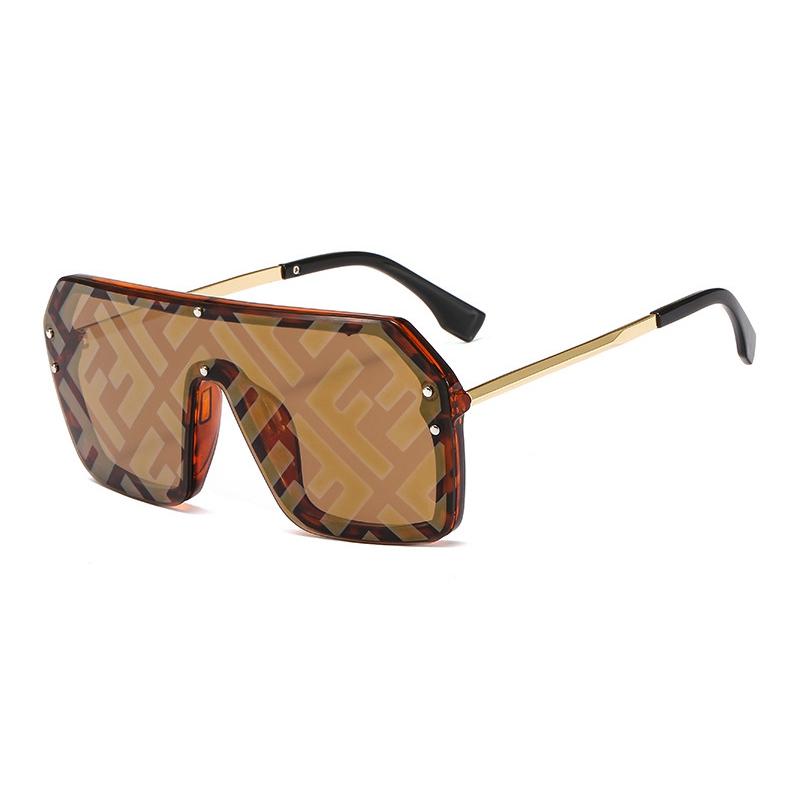 Brand Designer 2021New Fashion Rimless Bend Leg Trendy Colorful Lens Women Sun Glasses Oversize Shades Sunglasses 2020