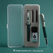 Jinhao новый набор перьевых ручек с синими чернилами, цветной чехол, Подарочная серия, школьные принадлежности, перьевые ручки, 0,38 мм наконечни...(Китай)