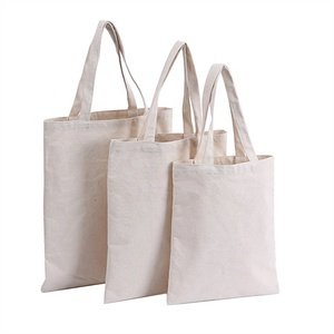 OEM Custom Printed Logo Low MOQ Handled Natural Color 12oz Pure Organic Cotton Canvas Blank Tote Bag