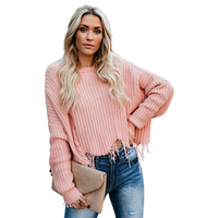 2019 Women Long Sleeve Deep V Neck Crop Top Sweater