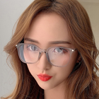 Frame Frame Glasses Frames Orange Large Frame Glasses Female Fashion Myopia Glasses Frame TR90 Anti-blue Light Glasses Frame