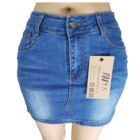 Hot sale sexy mini custom jeans skirt short ladies young girls mini jeans denim skirt