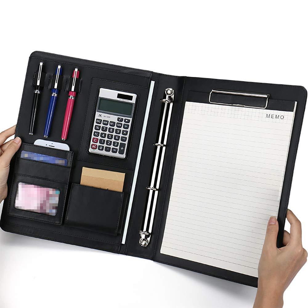 Clipboard Padfolio Magnetic Closure Writing Pad 4 Ring Files Folders