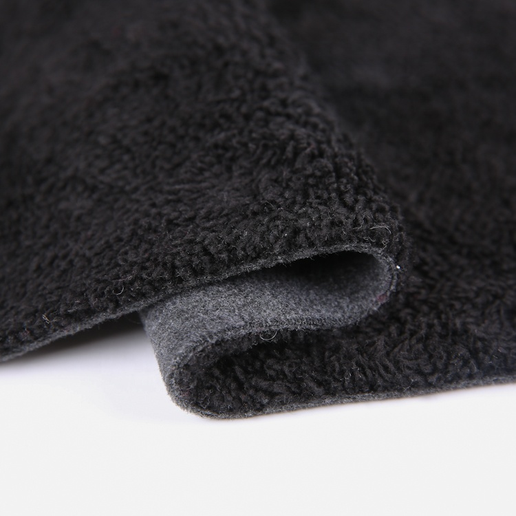 500gsm 100% polyester hesther polar fleece bonded sherpa fabric for winter clothes