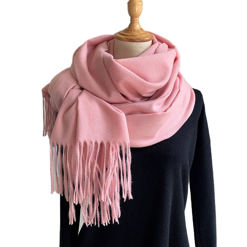2020 Manufacturers <strong>scarfs</strong> for women stylish winter cashmere pashmina solid plain color long thick warm shawl
