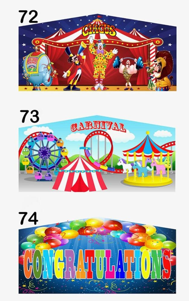 13 by 13 promotional module modular inflatable bounce house banner art panel for inflatable