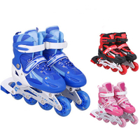 Wholesale Popular Boys Girl Professional Adjustable 4 Wheel Inline Roller Skates Shoes For Kids And Adults