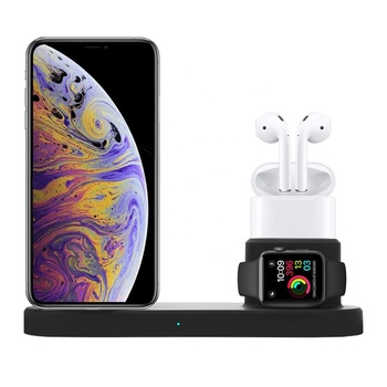 Built-in Cooling Fan Universal Smart Phone Holder QI Standard Fast Docking Station 3 in 1 Wireless Charger