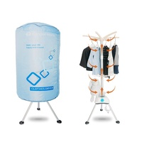Portable Electric Clothes Dryer stand 1000W Large Capacity 10kg Double layer Aluminum alloy Indoor Wet Laundry Warm Air Drying