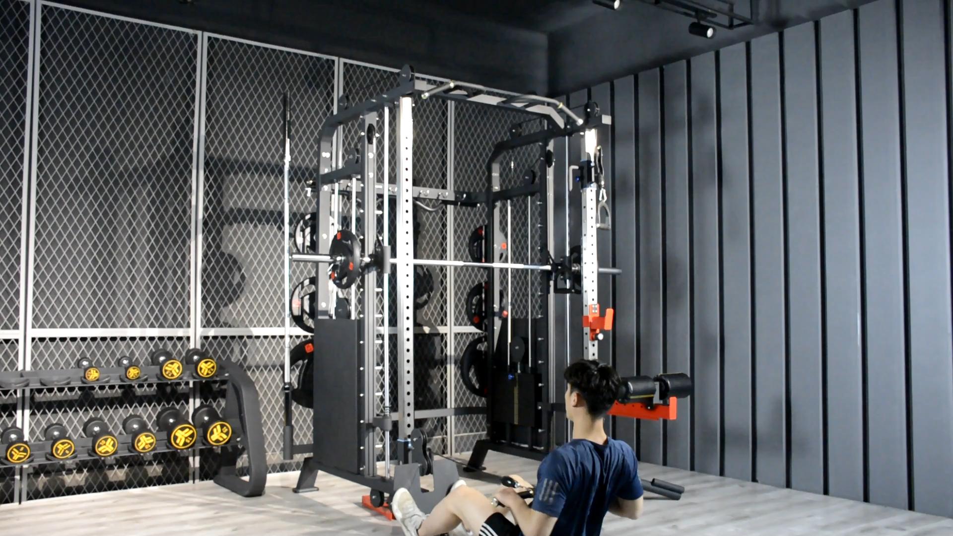 2020 שימוש ביתי מכירה לוהטת מפעל אספקת פונקציונלי מאמן כושר סמית מכונת כושר, חדר כושר ציוד סמית מכונת