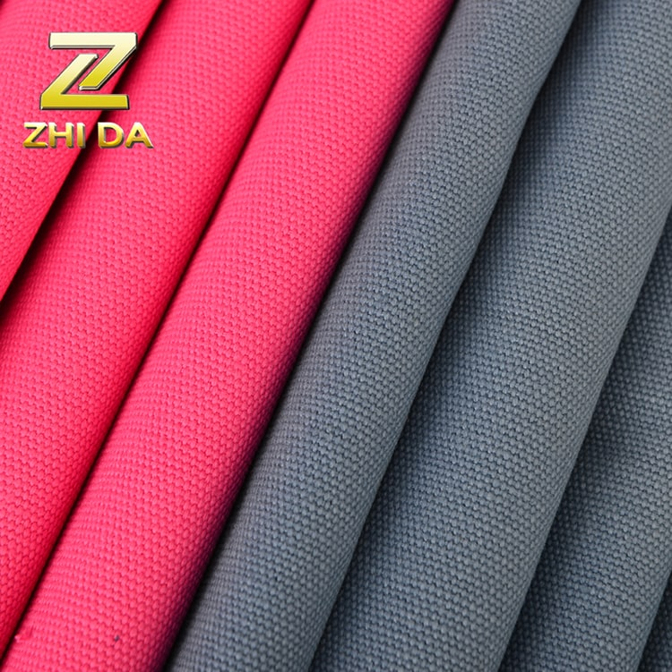 Buy china fabric in ZHIDA CANVAS high weight solid dying fabric 100% cotton for weekend bags