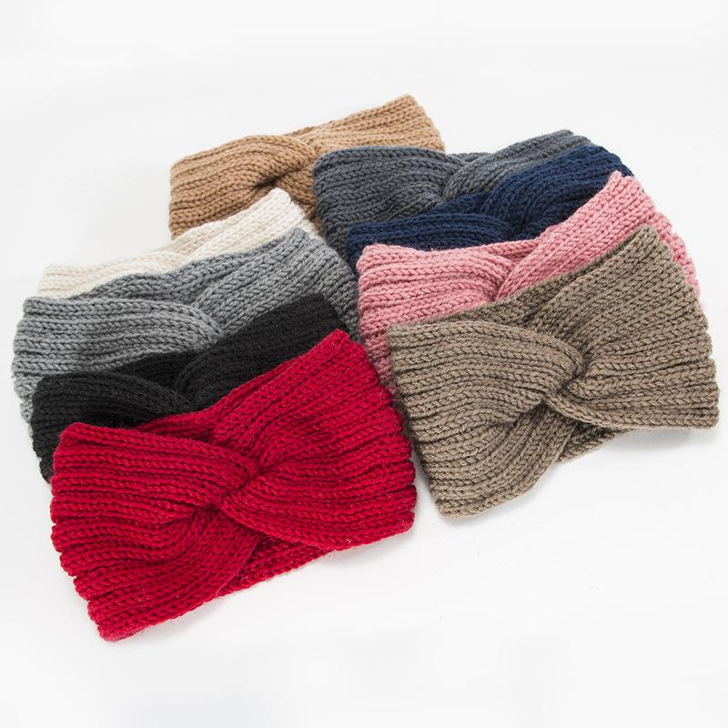 Hot style autumn and winter knitting hair accessories headband twist braid hairband elastic wool warm women sports hair band
