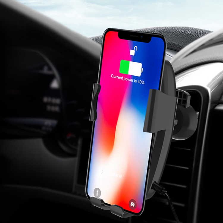 Factory wholesale low price wireless charger holder rack wireless car charger holder QI 10W fast charging