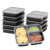 Takeaway disposable food meal prep containers