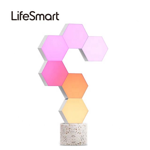 LifeSmart Cololight PRO Gift Hexagon Quantum Light Nanoleaf Work with Google, Alexa- LS166A6 - 6PCS