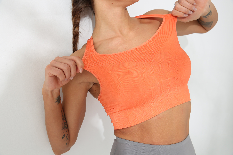 Wholesale Gym Wear Quick Dry Fitness Top Women Sportswear Seamless Beauty Back Yoga Bra 6