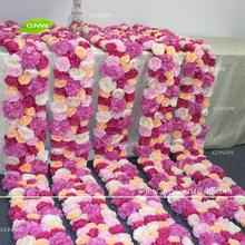 GNW conveniente y portátil caliente Rosa artificial flor runner