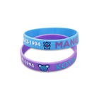 New Design Cheap; Wholesale Price Glow In The Dark Elastic Wristband Custom Rubber Band Silicone Bracelet Name