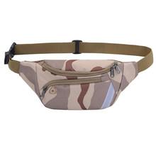 Нейлоновая поясная сумка для женщин и мужчин, Спортивная камуфляжная нагрудная сумка через плечо(Китай)