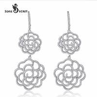 Wholesale 925 Sterling Silver Earring Fashion Jewelry Flower Earrings