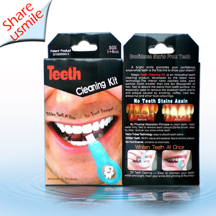 Non-Peroxide patented sponge melamine Soft Teeth Cleaning Whitener Tooth Stains Remover