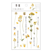 1 шт. милые наклейки в виде цветов, прозрачная наклейка из ПЭТ, корейские наклейки для украшения растений, скрапбукинг, дневник, подарок для д...(Китай)