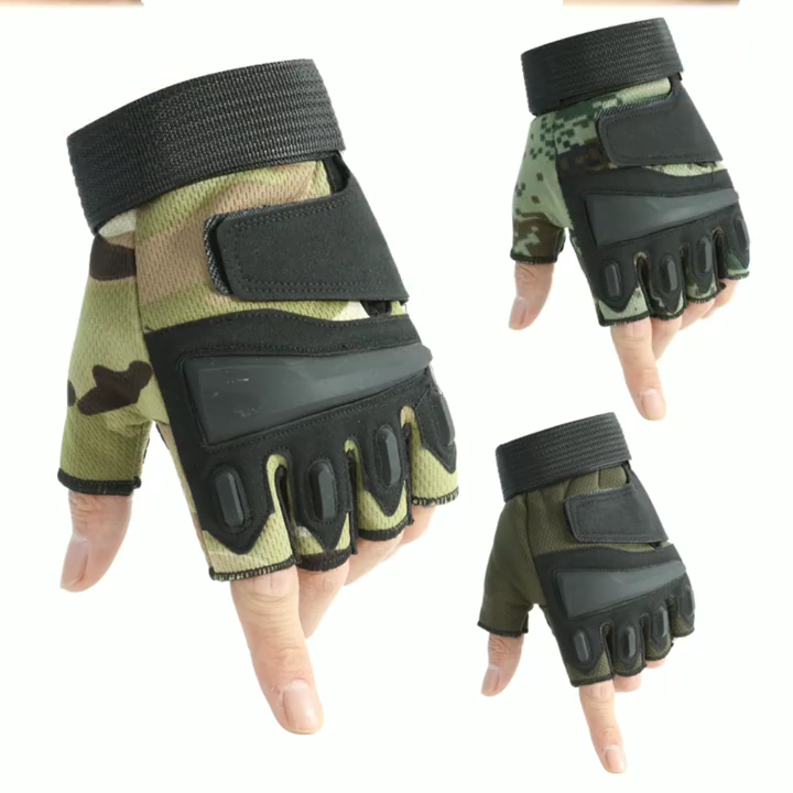 HLJTactical gloves male z901 Half Finger Black Hawk mountaineering sports fitness protection army fans outdoor wholesale riding
