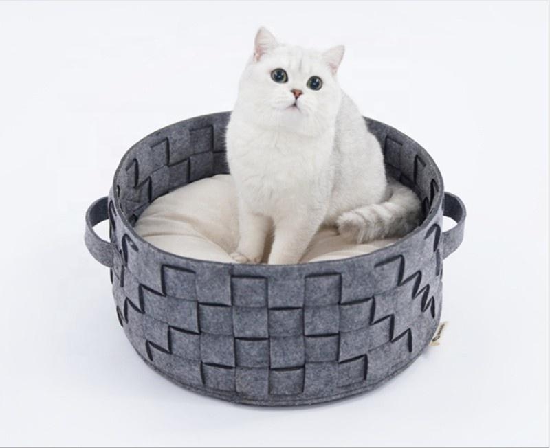 गर्म नरम महसूस किया बिल्ली कुत्ते बिस्तर पालतू जानवर के लिए गुफा घर