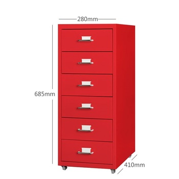 Morden office design cheap 6 drawer steel storage filing cabinet