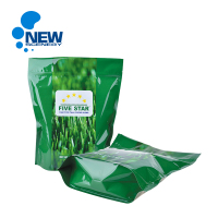 China Bag Manufacturer Custom 4.4mil BOPET/High strength LLDPE Ziplock Stand Up For Packaged Grass Seed